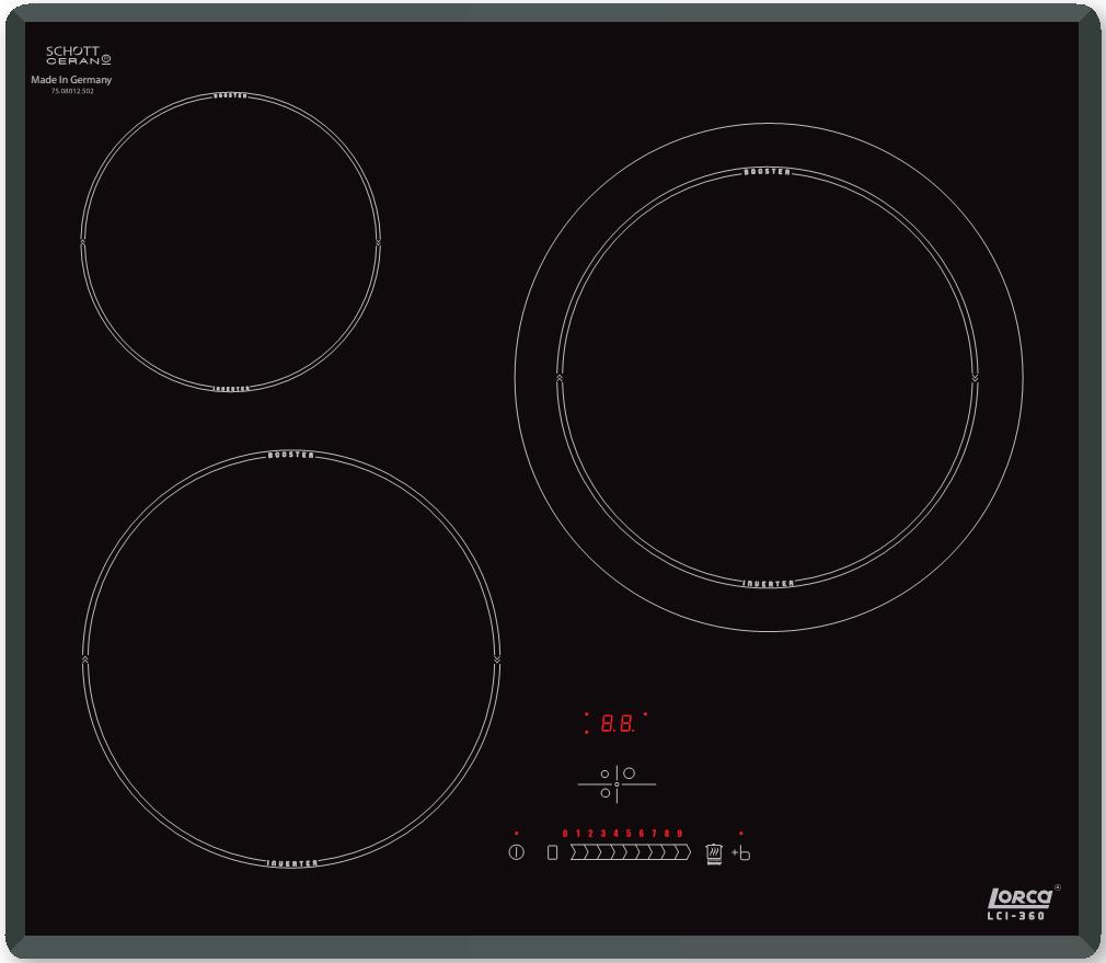 Bếp từ ba bếp Lorca LCI-360 xuất xứ Đức